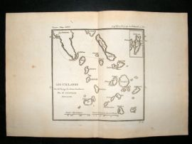 Barthelemy 1790 Antique Map The Cyclades, Greece